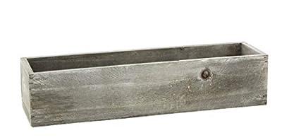 """Lucky Winner Rectangular White Wash Wooden Planter Box, 13"""""""