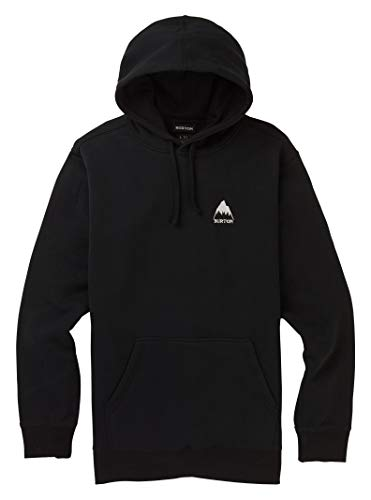 Burton Men's Classic Mountain High Pullover Hoodie, True Black W20, Large