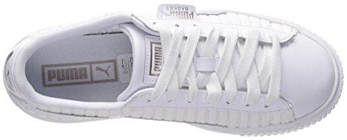 White White puma Women's Pointe Wn PUMA Sneaker Basket Platform En Puma puma White 7xWRA8