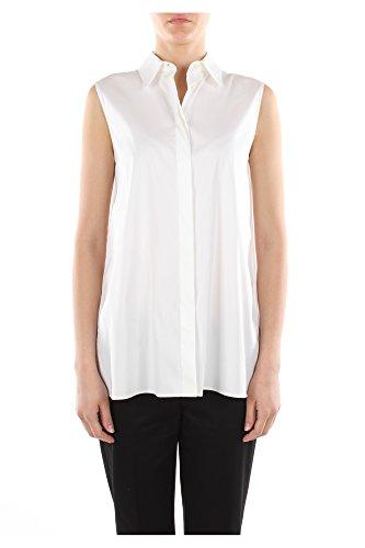 24X536BIANCOPOPELINE Prada Camisas Mujer Algodón Blanco Blanco