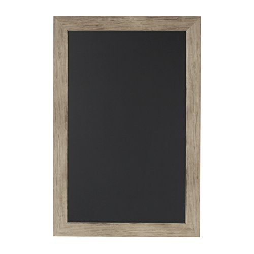 DesignOvation Beatrice Framed Magnetic Chalkboard, 18x27, Rustic Brown by DesignOvation