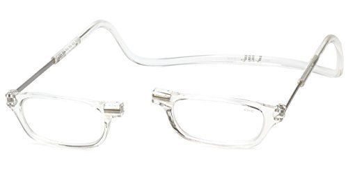 Clic Magnetic Long Size Reading Glasses in Clear +1.50