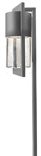 Hinkley Lighting 1547HE Dwell 18-Watt T-5 Wedge Base Light Bulb Low Voltage Path Light, Hematite Finish