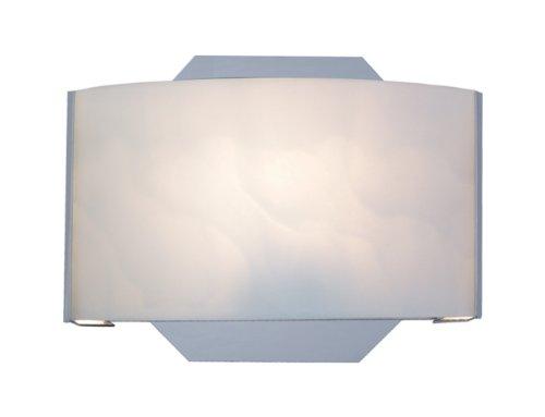 White Satin Nickel Compact - Eurofase SC-1DAK-2N Dakota 1-Light Wall Sconce, Satin Nickel/White