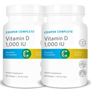 Cooper Complete – Vitamin D3 1000 IU – Easy to Digest, Increased Absorption – 120 Day Supply
