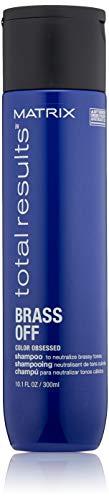 Matrix Total Results Brass Off Color Depositing Blue Shampoo for Neutralizing Brassy Tones, 10.1 Fl. Oz.