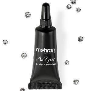 Mehron Makeup AdGem Adhesive w/12 Rhinestones (.125 oz) -