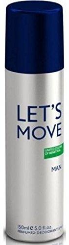 Deodorant Benetton Spray - United Colors of Benetton Lets Move Deodorant Spray - For Men (150 ml)