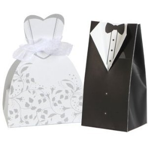 100 bride groom wedding dress tuxedo favor boxes bridal shower party boxes new