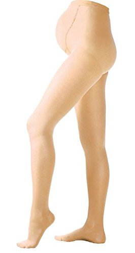 Jomi Compression Maternity Collection, Compression Maternity Pantyhose, 30-40mmHg Surgical Weight 380 (Large, Beige)