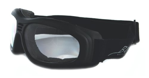 Bobster Touring 2 Goggles,Black Frame/Clear Lens,one size