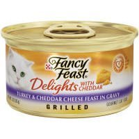 (Purina Fancy feast Delights With Cheddar GRILLED Turkey & Cheddar Cheese Flavor in Gravy (12-CANS) (NET WT 3 OZ EACH))