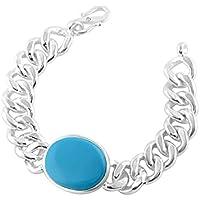 Steel Silver Coated Bracelet,Real Salman Khan Bracelet with Turquiose Stone