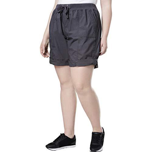 Calvin Klein Performance Womens Plus Running Fitness Shorts Gray 2X