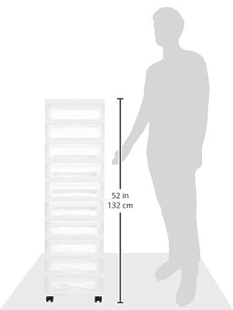 White IRIS 6-Drawer Rolling Storage Cart with Organizer Top