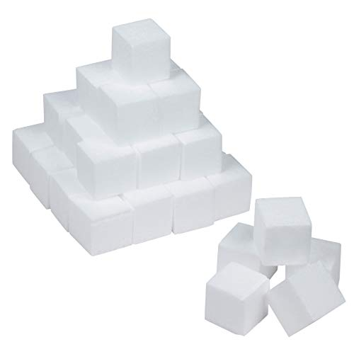 Styrofoam Cubes - Craft Foam Blocks - 36-Piece Polystyrene