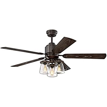 Litex Cos52osb5cr Andrus 52 Quot Indoor Outdoor Ceiling Fan With Remote Control Five Dark Bronze