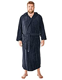 KingSize Men's Big & Tall Terry Velour Hooded Maxi Robe