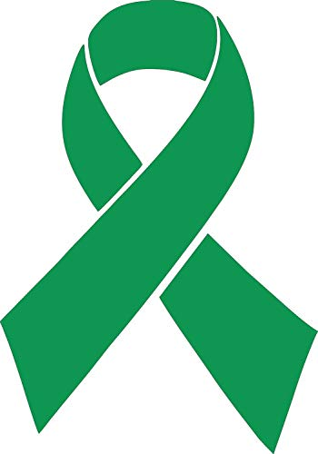 Barking Sand Designs Green Kidney Liver Renal Cell Cancer Ribbon Awareness October Die Cut Vinyl Window Decal/Sticker for Car/Truck ()
