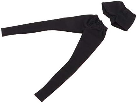 ドール長いズボン ショートパンツ 人形服セット 1/6 BJD人形服アクセサリ DIY飾り 全6色 - ブラック