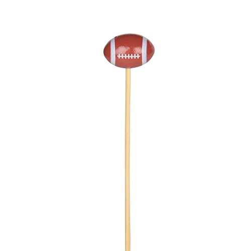 4 3/4'' - Football Party Appetizer Toothpicks / Swizzle Sticks - 100ct by Pick On Us