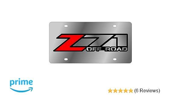 2015-2019 Z71 Badge Full Color Eurosport Daytona Stainless Steel License Plate