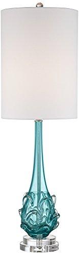 Art Glass Glass Table Lamp - Possini Euro Dinah Blue Art Glass Table Lamp