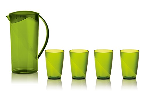 green glass water pitcher - 6