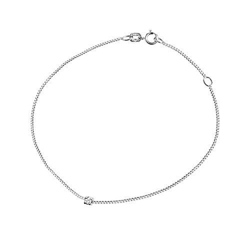 & You - Bracelet Chaîne - Argent 925 - Access - Diamant 0.03 cts - 18 cm - AM-SBR 57 003-18