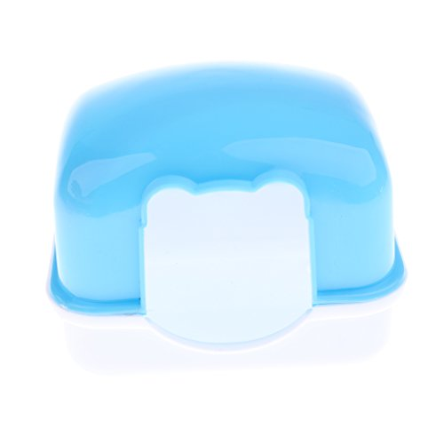LOVIVER Durable Plastic Hamster House Hideout Hut Hideaway Exercise Play Toys Chews for Dwarf Hamster, Mouse, Rat, Gerbil and Other pet Small Animals - Blue, 10x7.8x11cm