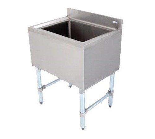 (John Boos EUBIB-12-2421 Stainless Steel Underbar Ice Bin with Galvanized Legs, 24