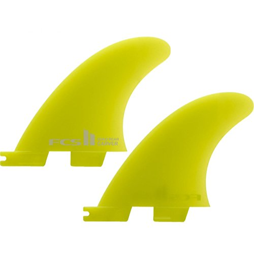 (FCS II Carver Neo Glass Quad Rear Side Byte Fin Small Yellow)