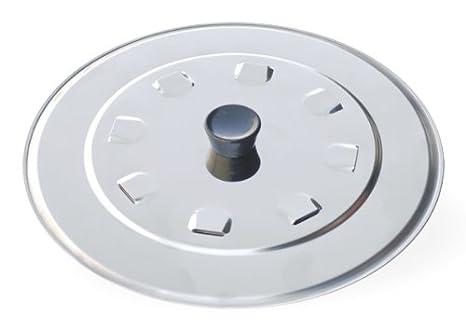 Metaltex - Tapadera de sartén de acero inoxidable, 32 cm