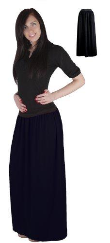 femmes Mija de couleurs C beaucoup 4001 Maxi Noir Long Jupe pour les 8IqWzrgaq