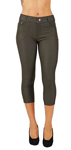 5StarsLine-Womens-Jean-Look-Jeggings-Tights-Slim-Fit-Pull-Up-Pants-Solid-Colors-Full-Length-and-Capri-Casual-Leggings-S-3X