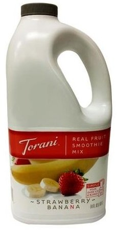 Torani Strawberry Banana Real Fruit Smoothie Mix, 64 oz