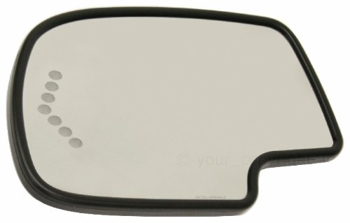 (Kool Vue CV49GL-S Mirror Glass for Chevy Silverado/Sierra 99-07 Left Heated W/Auto-Dim Backing Plate and Signal Light All Cab Types)