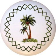 Palm tree cabinet knobs