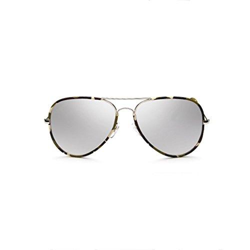 la de de La Plata Gafas Gafas UV400 Orange Gafas Moderno Sol polarizadas Adulto de Gafas Sol Manera Espejo Color Unisex qnCtpxwA7
