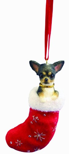 Chihuahua, Black and White Stocking Ornament