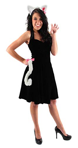 elope Cute Kitty White Cat Ears & Tail Set