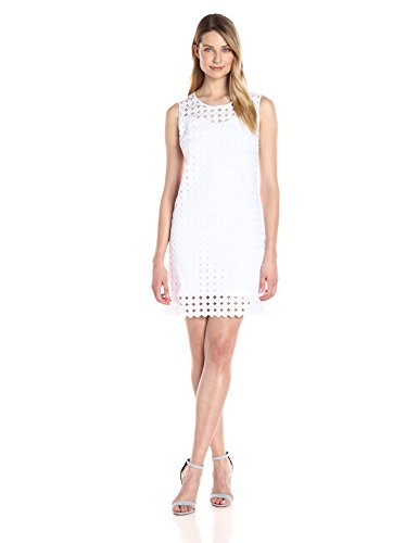 Tribal Women's Roman Holiday Circle Lace Dress, White, L