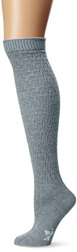 Knee High Classic Merino Wool Lightweight Boot Socks, Grey, Medium (Knee High Lightweight Stockings)