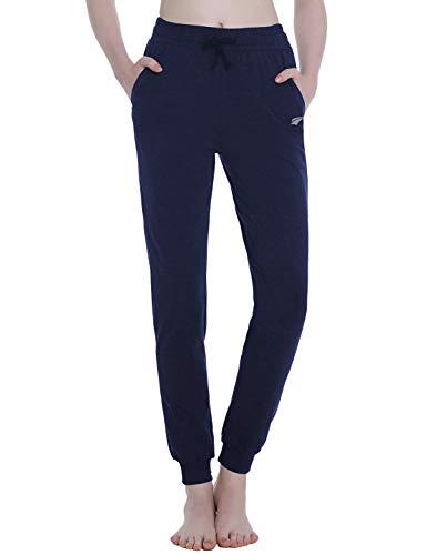EZRUN Women's Sweatpants Joggers Pants Lounge Workout Walking Yoga Sweat Pants with Pockets for Women,Navy,XS