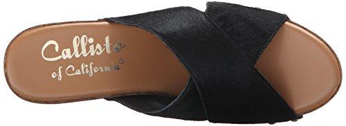 Women's Wedge Sandal Black Pony Callisto Cinamon EzydwxABzq