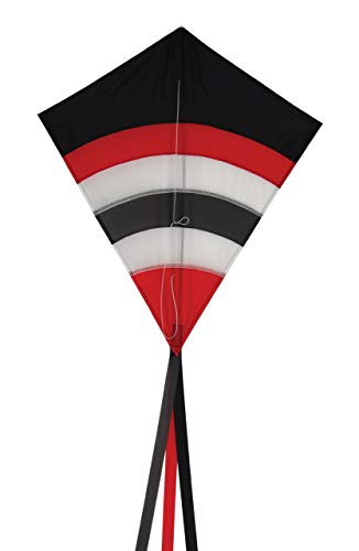 In the Breeze Blazer Arch 27 Inch Diamond Kite - Single Line - Ripstop Fabric - Includes Kite Line and Bag - Great Beginner Kite (Renewed) ()