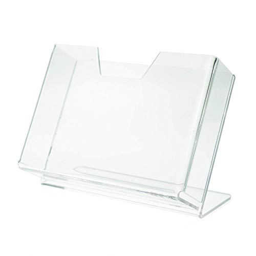 SOURCEONE.ORG Source One Deluxe Clear Acrylic Countertop Greeting Card Display 1 & 3 Pockets Available (1, 7 1/4 Inch)