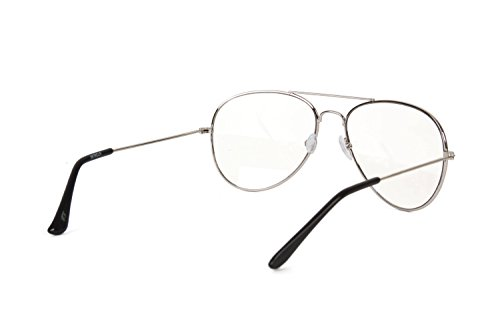 892f00ba47aeb Gravity s Non-Prescription Premium Aviator Clear Lens Glasses ...