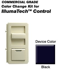 Leviton IPQFK-E Color Change Kit IllumaTech Decora Style Quiet Fan - Black (Pkg of 10)
