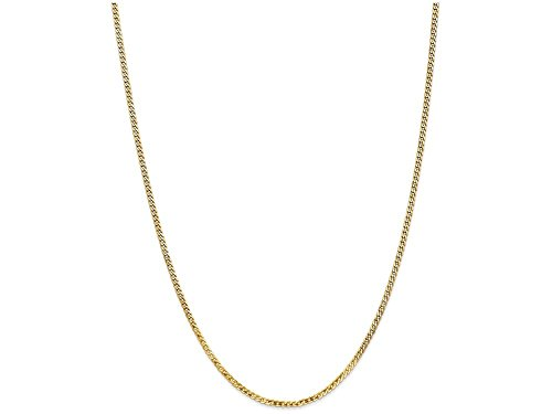 Finejewelers 18 Inch 14k Yellow Gold 2.2mm Beveled Curb Chain Necklace